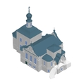 Church building Isometric 3D icon vector image