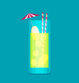 cocktail in flat style vector image