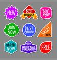 color advertising stickers vector image vector image