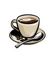cup coffee menu design vector image vector image