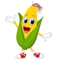 Cute corn cartoon character vector image vector image