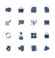 different simple universal icons for sites apps vector image vector image