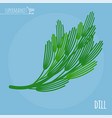 dill flat design icon vector image vector image