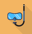 Diving mask with snorkel flat icon vector image vector image