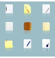 Documents and office supplies icons vector image vector image