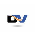 DV company linked letter logo vector image vector image
