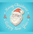 emblem with santa claus vector image