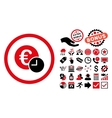 Euro Credit Flat Icon with Bonus vector image vector image