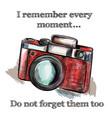 fashion old hand drawn camera vector image vector image