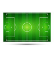 football field soccer field vector image vector image