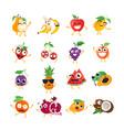 Funny fruit - isolated cartoon emoticons