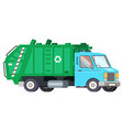 garbage truck car machine recycle trash vector image vector image