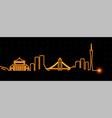 guangzhou light streak skyline vector image vector image