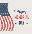 happy memorial day flag patriotic american vector image