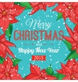 Happy New Year 2015 celebration typographical vector image vector image
