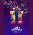 happy new year 2019 gift triangle hipster color vector image vector image