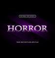 horror text effect premium vector image vector image