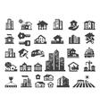 house logo design template estate or vector image