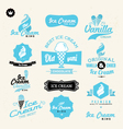 ice cream shop logo vector image vector image
