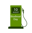 international biodiesel day vector image
