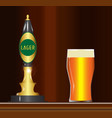 lager on the bar vector image vector image