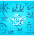 let us travel again adventure concept vector image