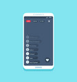 live video stream on phone online videos stories vector image