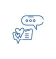 love correspondence line icon concept love vector image vector image
