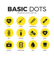 medical two flat icons set vector image vector image