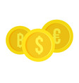 money coin exchange icon flat style vector image vector image