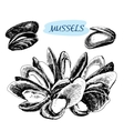 Mussels vector image vector image