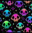 neon retro pattern multicolored bright animal vector image