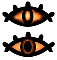 pagan symbol eyes vector image