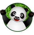 panda cartoon vector image vector image