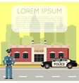 Police Department Banner8 vector image vector image