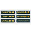 rectangular horizontal buttons exchange vector image vector image