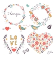 Romantic graphic elements vector image