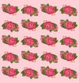 rose pattern on pink background vector image vector image