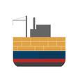 sea freight icon with cargo ship vector image vector image
