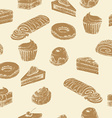Seamless cake background vector image vector image