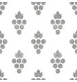 silver textured seamless pattern of grapes vector image vector image