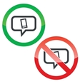 Smartphone message permission signs vector image vector image