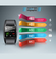 smartwatch icon abstract infographic vector image vector image