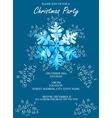 snowflake blue invitation vector image