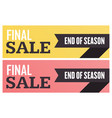 social media final sale banner vector image