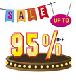 special 95 offer sale tag isolated vector image vector image