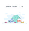 sport and fitness background vector image vector image