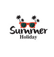 summer holiday sunglasses coconut tree background vector image