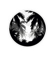 tropical scenery with palm trees monochrome vector image vector image