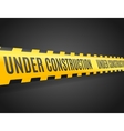 Under Construction Line with Text vector image vector image